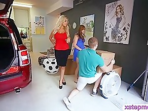 Big-busted milf Bridgette B together with teen indulge Zeal Howell triptych