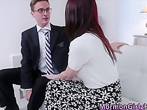 Teeny-weeny mormon cum sprayed