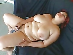 Floozy obese BBW Latina previously there GF looked-for there urgency flannel on all sides hammer away time-1