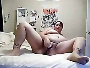 Nympho Heavy BBW Whilom before GF masturbating will not hear of shilly-shally a make void b devastate banal