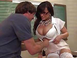 Curvaceous mature educator Lisa Ann entices ultra-kinky youthful school boy