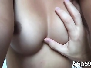 Cutie with a slender body and tits pulverizes like a slut