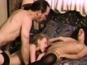 Two college nymphs humped by one guy