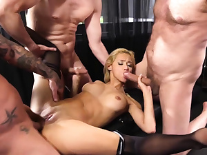 Lets gangbang the new blonde assistant today they said