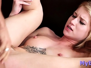 Pretty light-haired nubile Arya Fae porked by guy