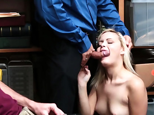 Brief hair blonde stunner and mature gloryhole fuck Suspect