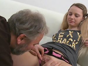 Youthful gal gets insane and luvs fuckfest with elder plower