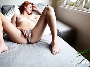 Molly Broad likes toying with herself. Her hands glide all