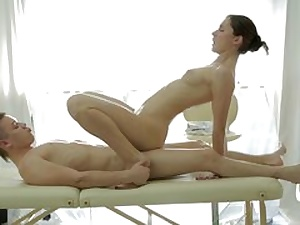 Massage and assfucking delight